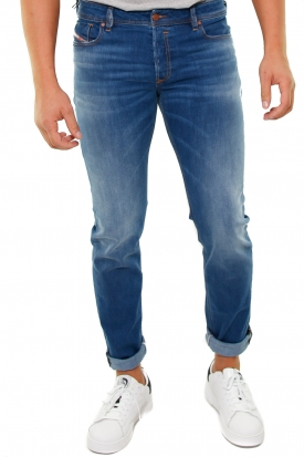 JEANS IN DENIM BLU CHIARO SLEENKER, BLU