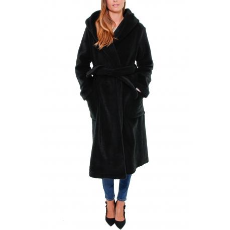 premium selection a22fc 00e7a CAPPOTTO NERO CON CAPPUCCIO, NERO - Formica Abbigliamento