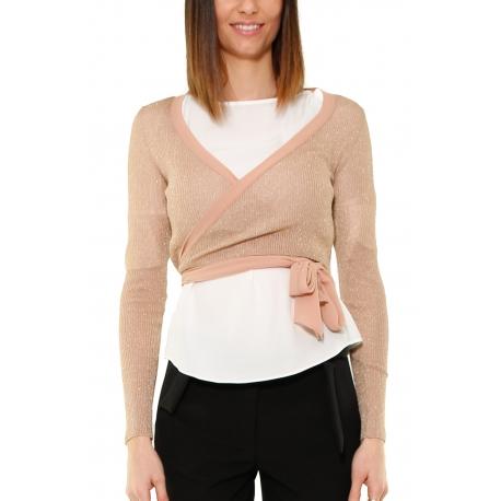 newest 35dc3 ea2e3 MAGLIA SCALDACUORE A COSTINE, ROSA - Formica Abbigliamento