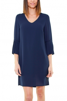 ABITO TUNICA IN GEORGETTE, BLU