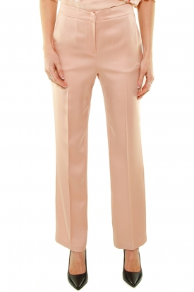 PANTALONE IN CADY EFFETTO LUCIDO, ROSA
