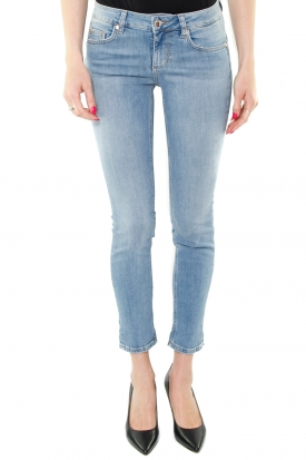 JEANS SKINNY BOTTOM UP DENIM CHIARO, BLU