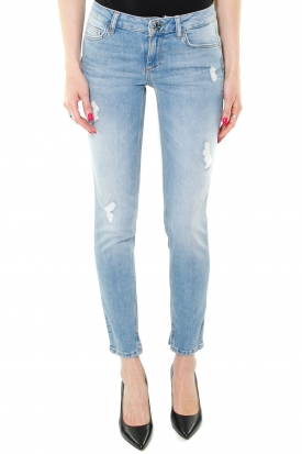 JEANS SKINNY BOTTOM UP EFFETTO DESTROYED, BLU