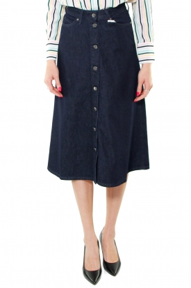 GONNA MIDI IN JEANS DI COTONE ORGANICO, BLU