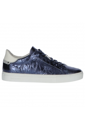 SNEAKERS IN PELLE LAMINATA, BLU