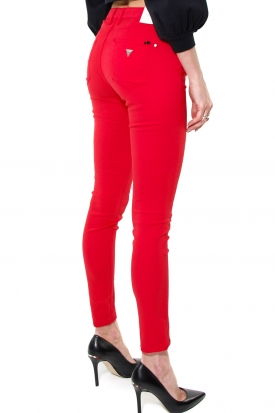 JEANS SKINNY IN COTONE STRETCH, ROSSO