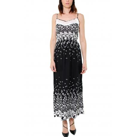 online retailer 10a91 f1308 ABITO LUNGO SPALLINE SOTTILI CON PIZZO, NERO - Formica Abbigliamento