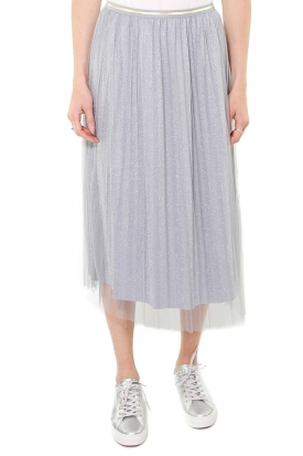GONNA MIDI IN TULLE, GRIGIO