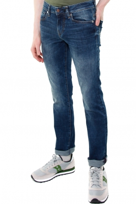JEANS SKINNY IN DENIM STRETCH STONE WASHED, BLU