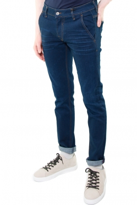 JEANS SKINNY CON TASCHE AMERICA IN DENIM STRETCH, BLU