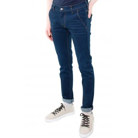 JEANS SKINNY CON TASCHE AMERICA IN DENIM STRETCH, BLU Formica Abbigliamento