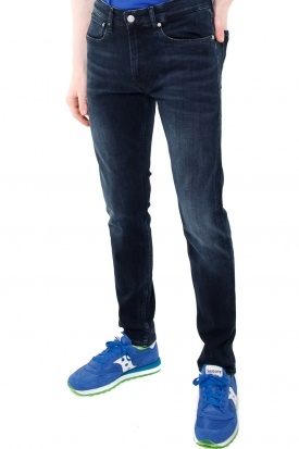 JEANS SKINNY IN DENIM BLUE BLACK MODELLO 016, NERO