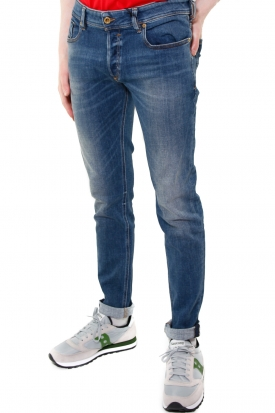 JEANS SKINNY IN DENIM STRETCH MODELLO SLEENKER, BLU