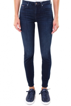 JEANS SKINNY IN DENIM STRETCH MODELLO COMO, BLU