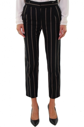 PANTALONE A RICHE CROPPED, NERO