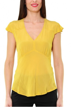 TOP IN CREPE DI VISCOSA, GIALLO