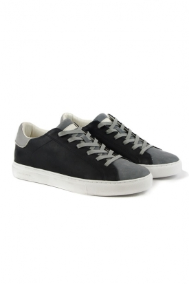 SNEAKERS LOW IN PELLE, NERO
