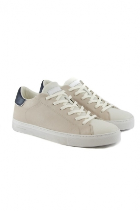 SNEAKERS LOW IN PELLE, BEIGE