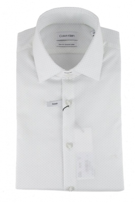 CAMICIA ELEGANTE SLIM FIT CON COLLO STRETCH, BIANCO