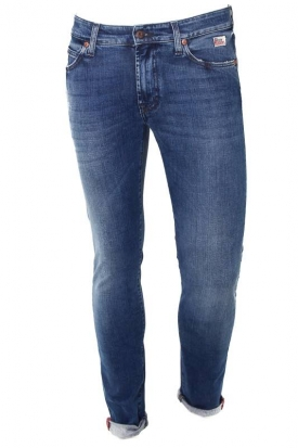 JEANS UOMO SLIM IN TELA DENIM, BLU