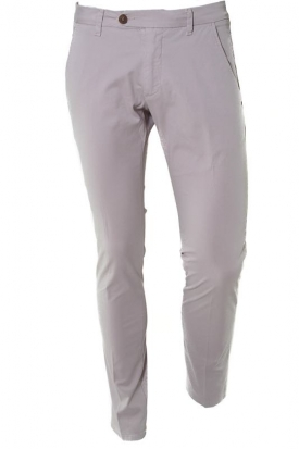 PANTALONE SLIM IN GABARDINA STRETCH, GRIGIO