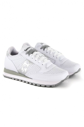 SNEAKERS JAZZ ORIGINALS VERA PELLE, BIANCO