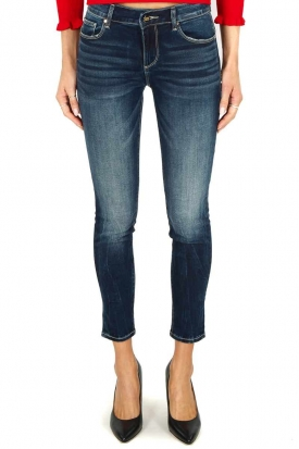 JEANS SKINNY EFFETTO PUSH UP IN DENIM STRETCH, BLU