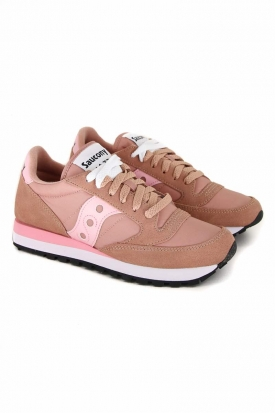 SNEAKER JAZZ ORIGINALS IN PELLE E TESSUTO, ROSA