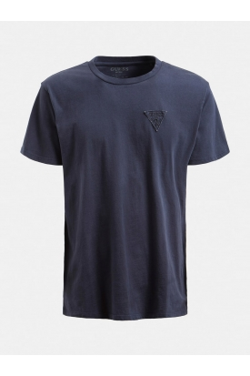T-SHIRT CON PATCH LOGO, BLU