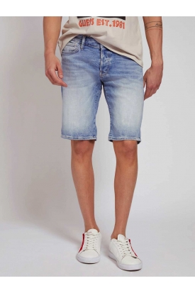 SHORT IN JEANS SUPER STRETCH, BLU