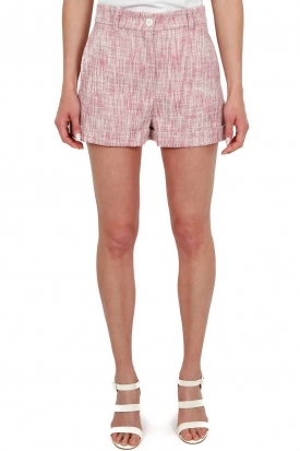 SHORT VITA ALTA IN TESSUTO TWEED, ROSA