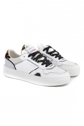 SNEAKERS DONNA OFF COURT IN PELLE, BIANCO