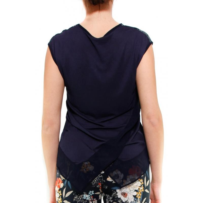 95dd7476515f1 KOCCA TOP BLU - Formica Abbigliamento
