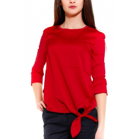 TOMMY HILFIGER MAGLIA ROSSO ROSSO