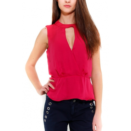 GUESS TOP ROSSO ROSSO