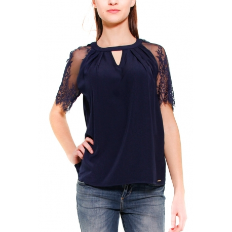 GUESS TOP NERO NERO