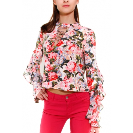 GUESS BLUSA ROSSO ROSSO