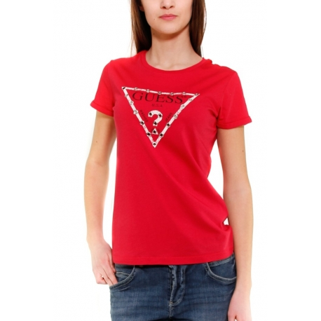 GUESS T-SHIRT ROSSO ROSSO