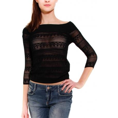 GUESS MAGLIA NERO - Formica Abbigliamento 2f7be7c4584