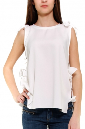 MOLLY BRACKEN TOP BIANCO BIANCO