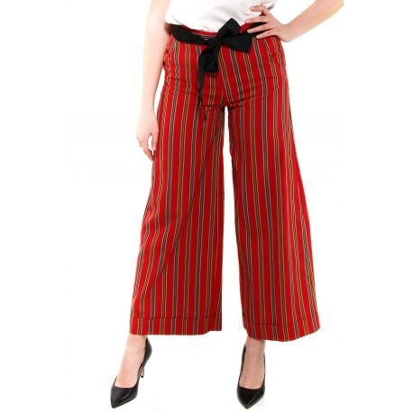 DIXIE PANTALONE ROSSO ROSSO