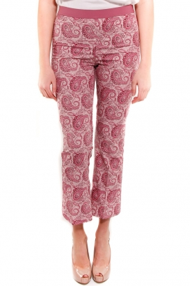 TWIN SET PANTALONE ROSSO ROSSO