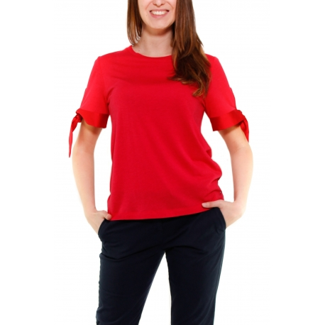 TOMMY HILFIGER T-SHIRT ROSSO ROSSO