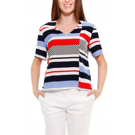 TOMMY HILFIGER TOP ROSSO ROSSO