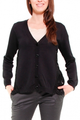 TWIN SET CARDIGAN NERO