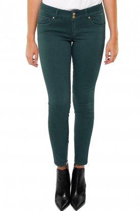 JEANS COTONE EFFETTO PUSH-UP MODELLO MEDAL, VERDE